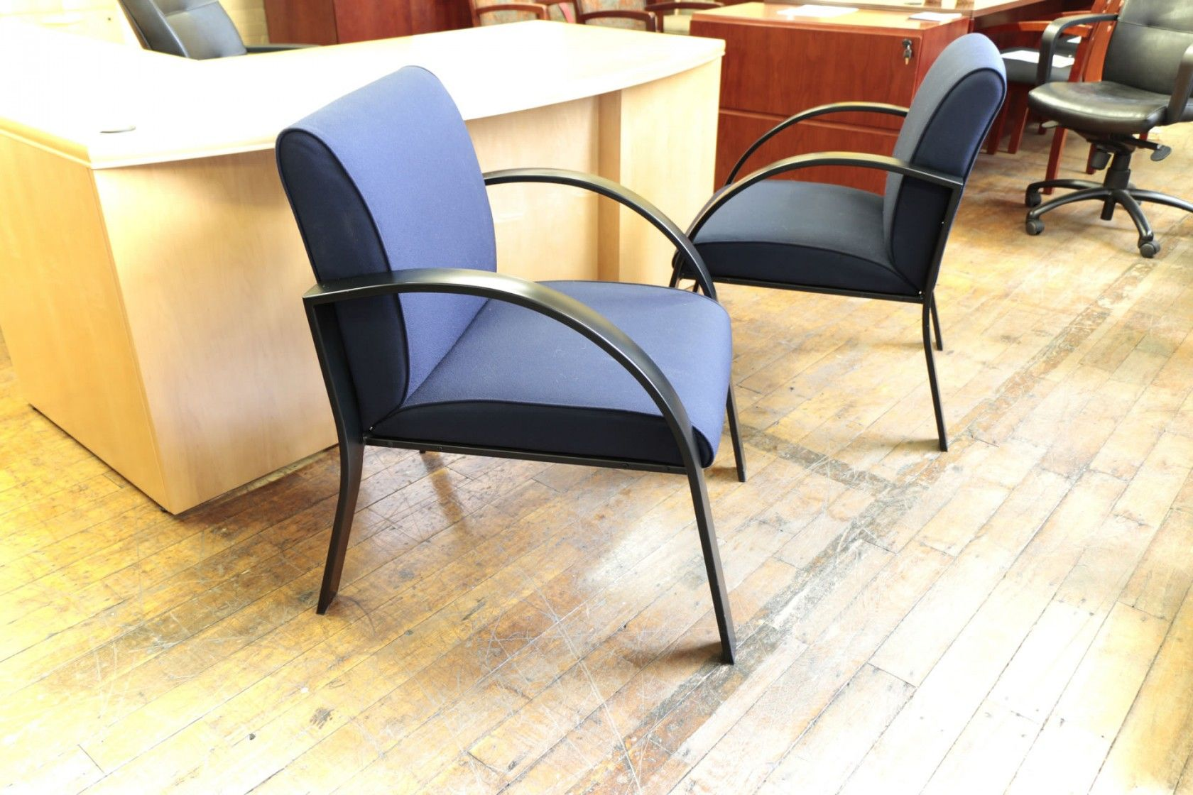 Ergocraft Symphony Navy Blue Reception Chairs • Peartree Office