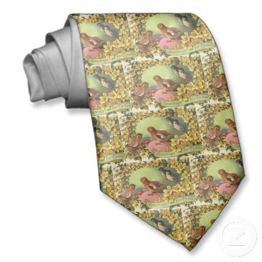 Vintage easter chicks tie easter giftshousehold decor pinterest vintage easter chicks tie negle Images