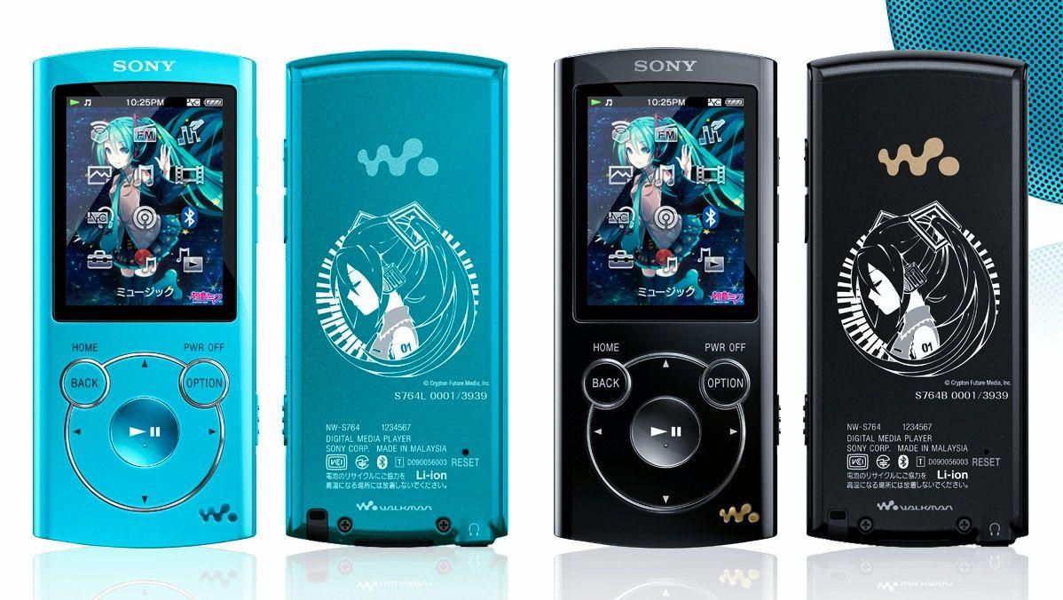 Limited Edition Hatsune Miku Sony Walkman MP3 Players