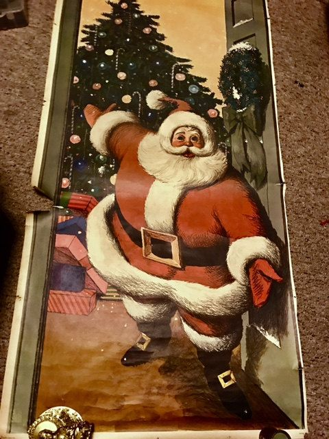 RARE Huge 1960\u0027s Mid-Century Santa Door Cover Philipp Sales Inc Sears \u0026 Roebuck & RARE Huge 1960\u0027s Mid-Century Santa Door Cover Philipp Sales Inc ...