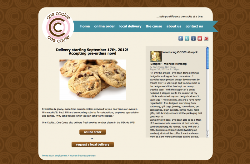 One Cookie One Cause - Website Design by Phoenix Web Design in