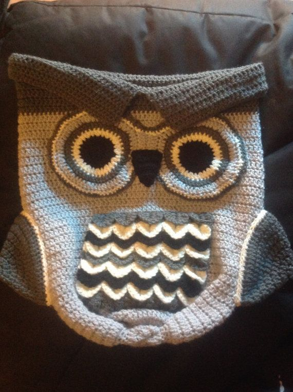 Luxury Crochet Owl Baby Cocoon & Hat set by WickedKittyCrafts | baby ...