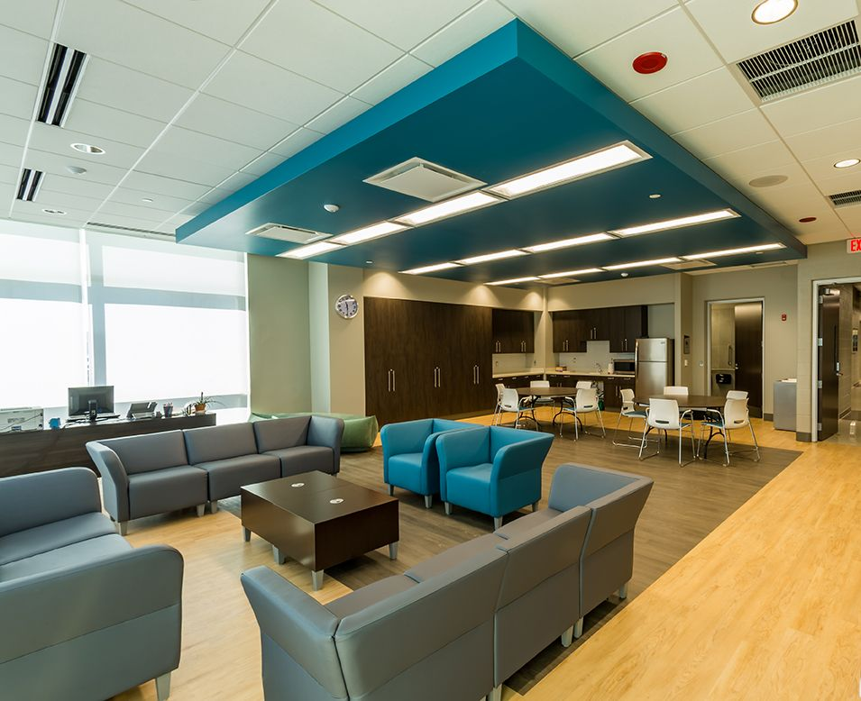 Williams Architects Naperville Fort Hill Activity Center Lounge Area Interior Design