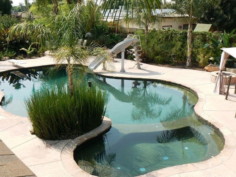 9fa6ca75d Mediterranean Swimming Pool with Fence