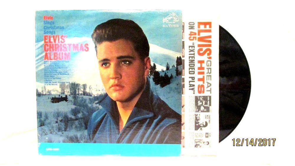 Elvis Christmas Album Vinyl.1964 Elvis Presley Elvis Christmas Album Vinyl Lp 33 Rca