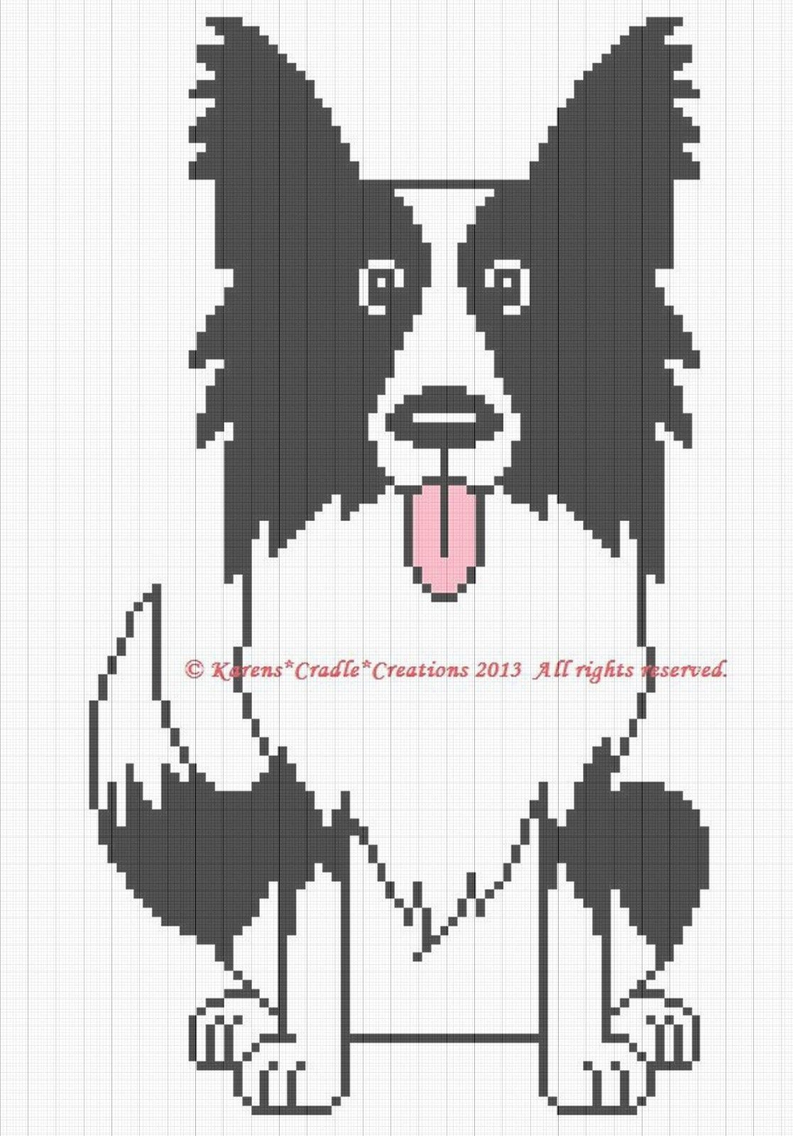 COLLIE GRAPH Crochet Pattern//Patterns CHART AFGHAN PATTERN