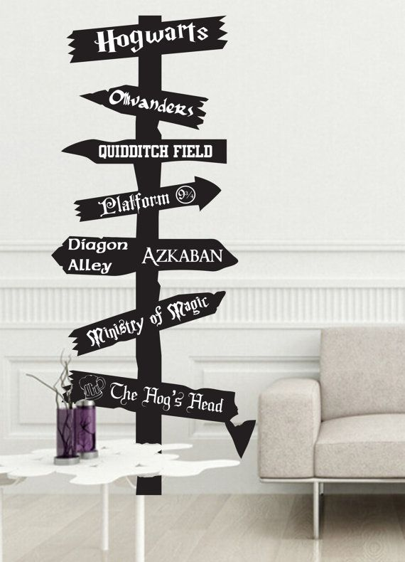 Road Sign Wall Decor New Customizable Harry Potter Inspired Road Sign Vinyl Walljobstco Review