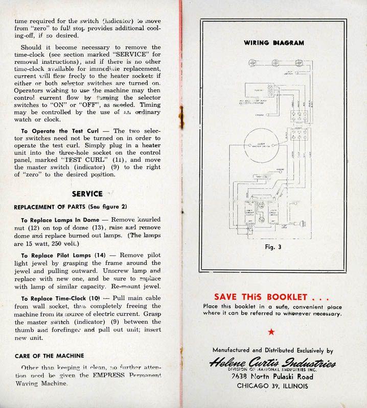 instruction manual the new helene curtis empress permanent wave rh pinterest ca