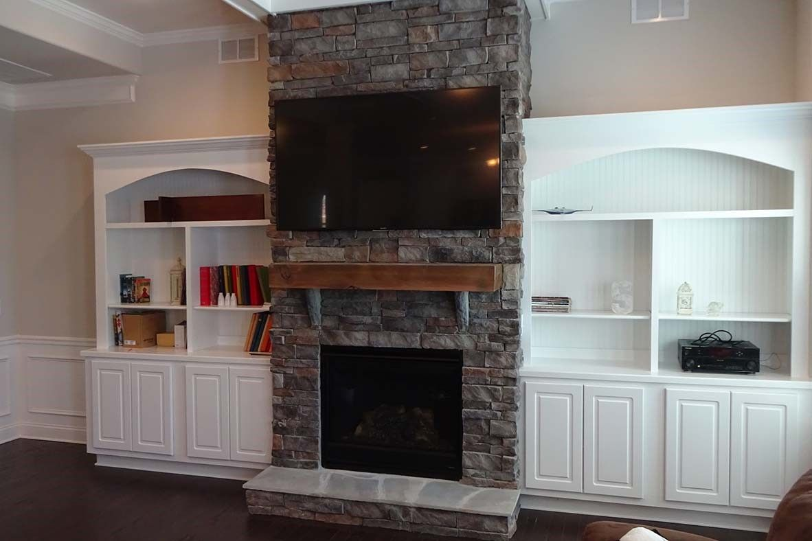 Stone Fireplace Tv Installation By Grand Central Wiring Home Audio Video In Greenville