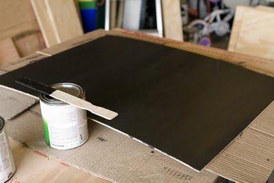 making a magnetic blackboard