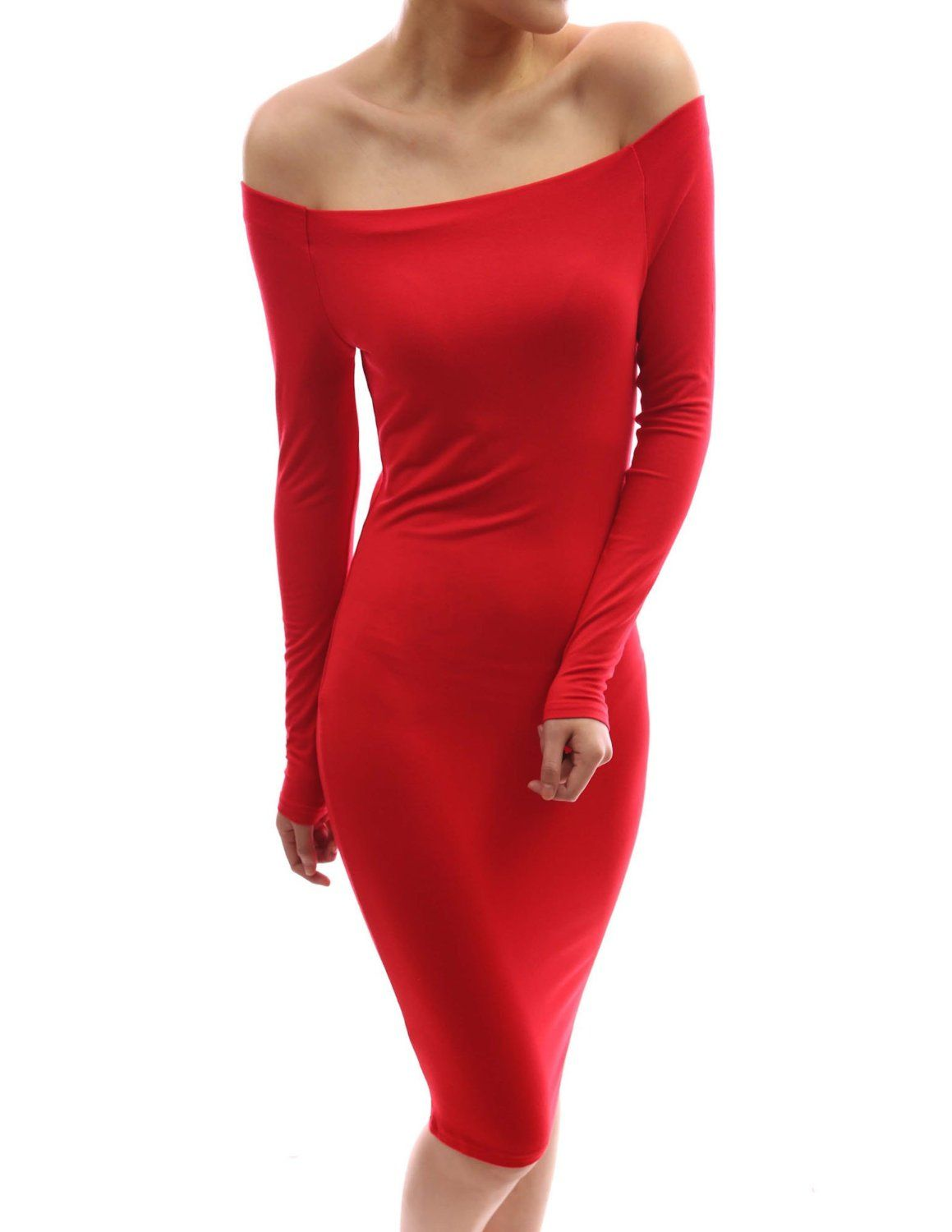 Ana S Red Patty Woman Off The Shoulder Long Sleeved Fitted Dress From Chapter 37 Long Sleeve Fitted Dress Dresses Beautiful Dresses