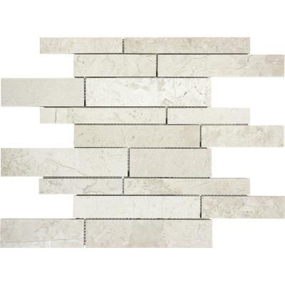 Anatolia - Polished Berkshire Crema Random Strip Mosaics - 76-277 - Home Depot Canada