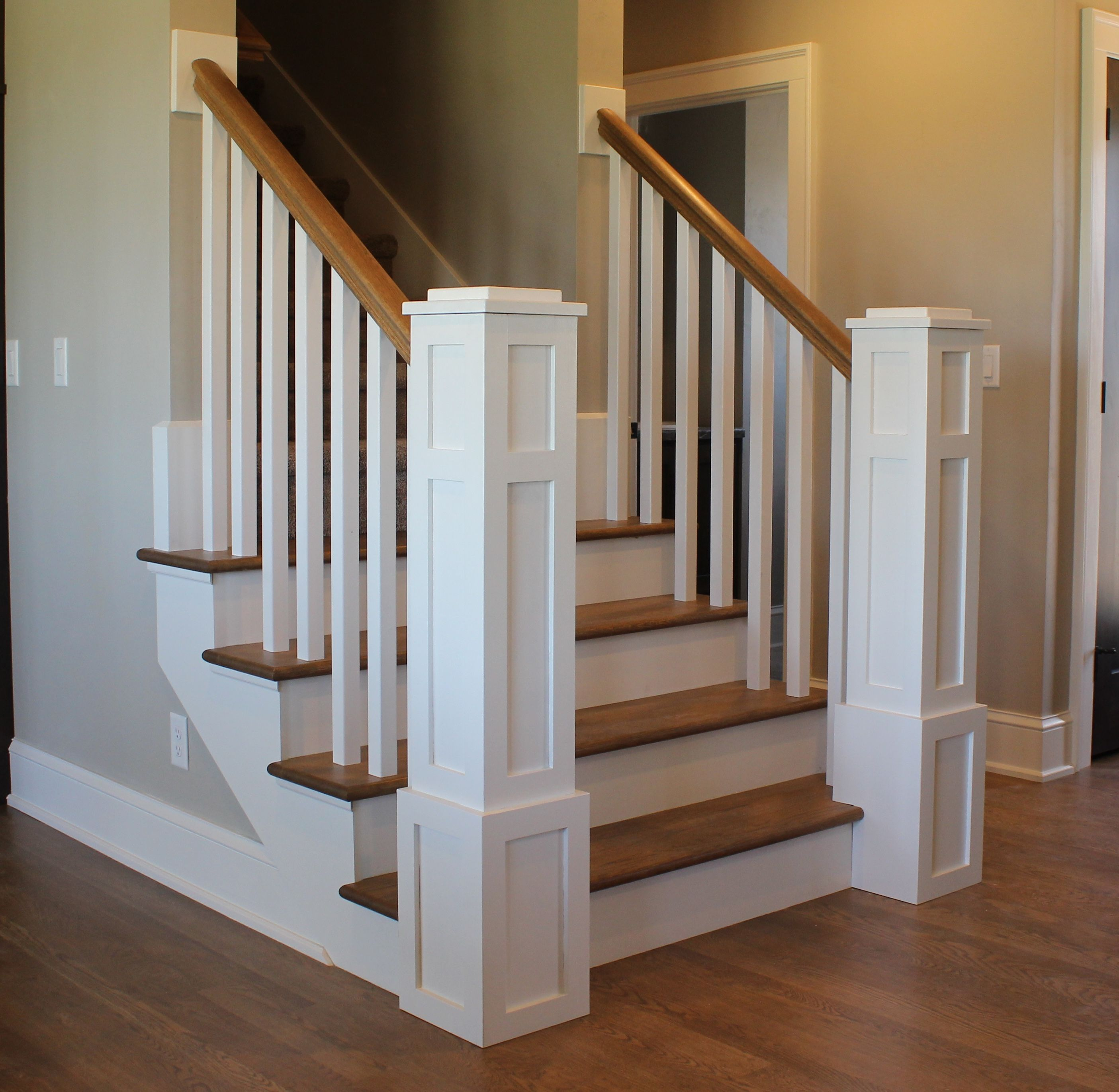 Best Custom Stairs And Newel Posts With Solid White Oak Treads 400 x 300