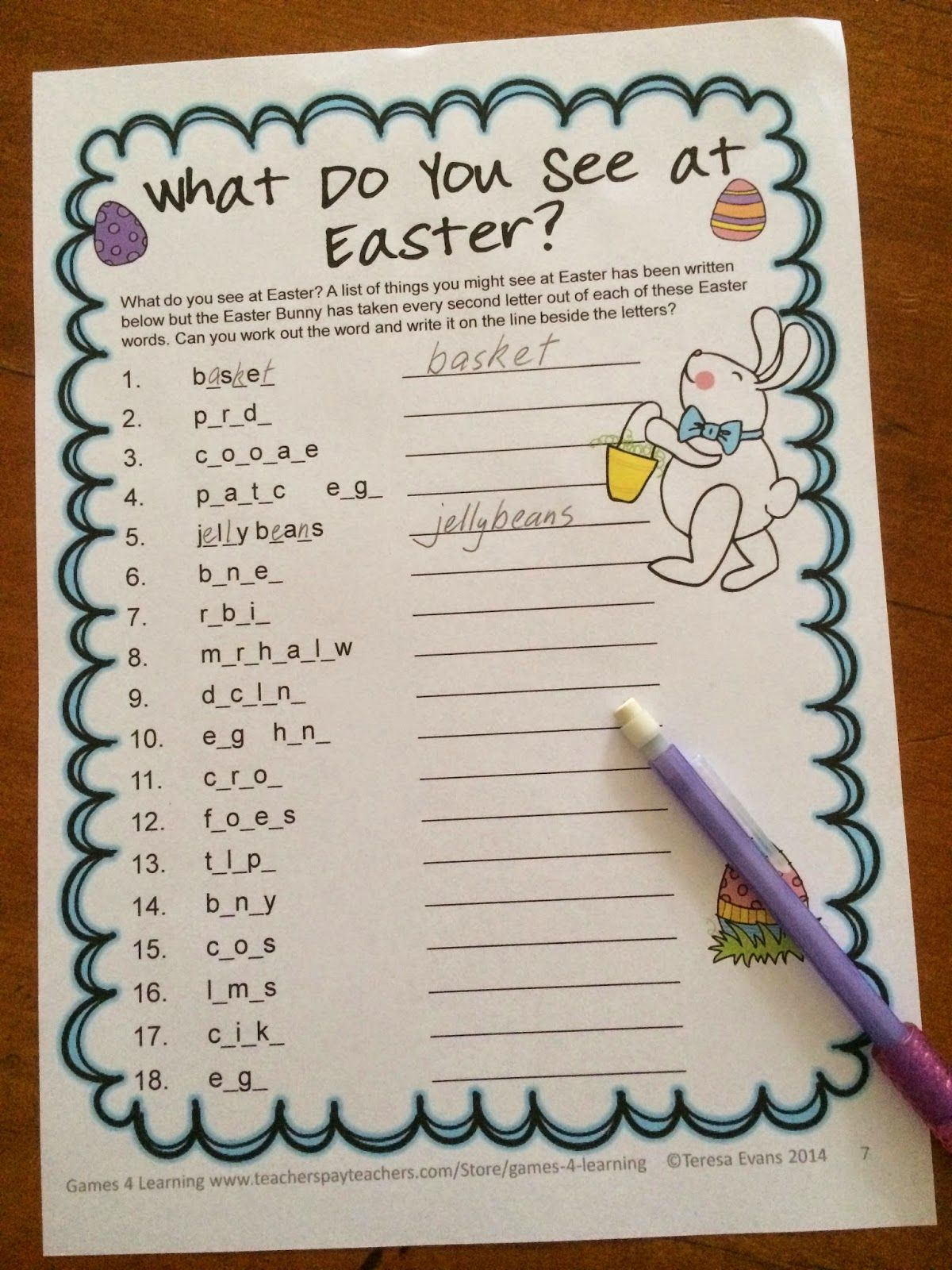 Fun Games 4 Learning Easter Literacy Freebies