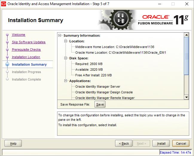 Install Oracle Identity Management Installation on Windows