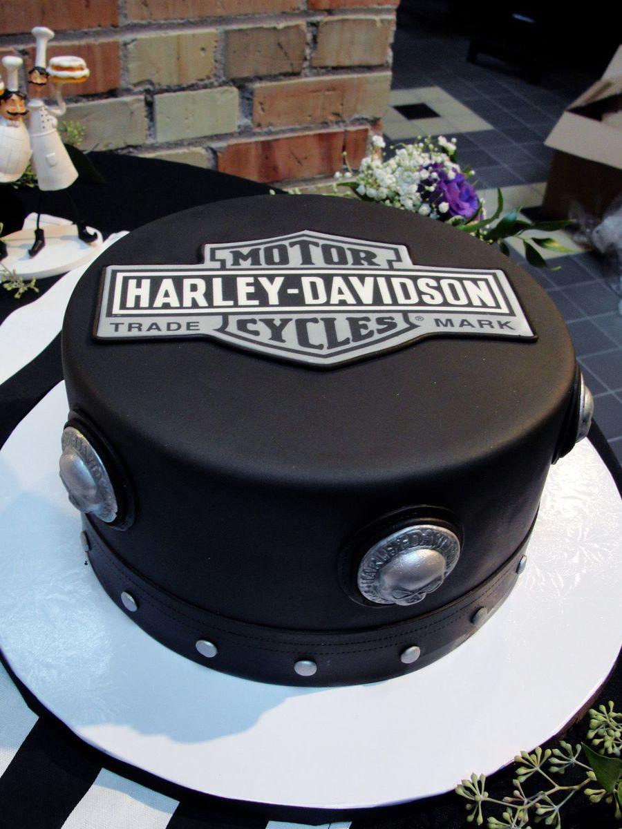 Black and white harley cake biker birthday pinterest