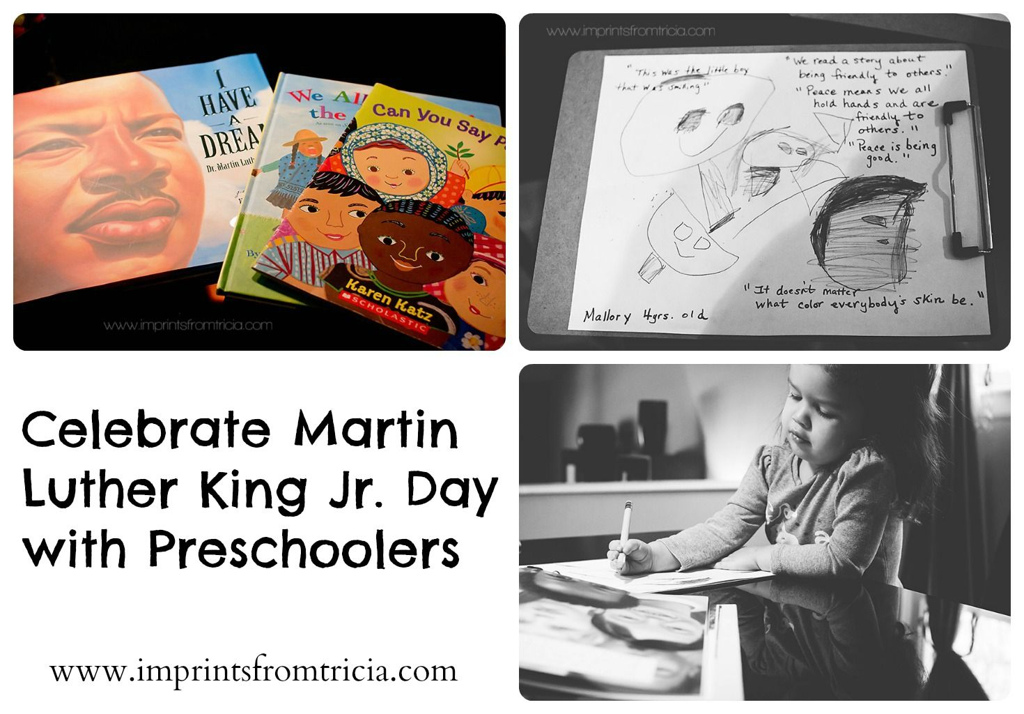 Martin Luther King Jr Preschool Activity