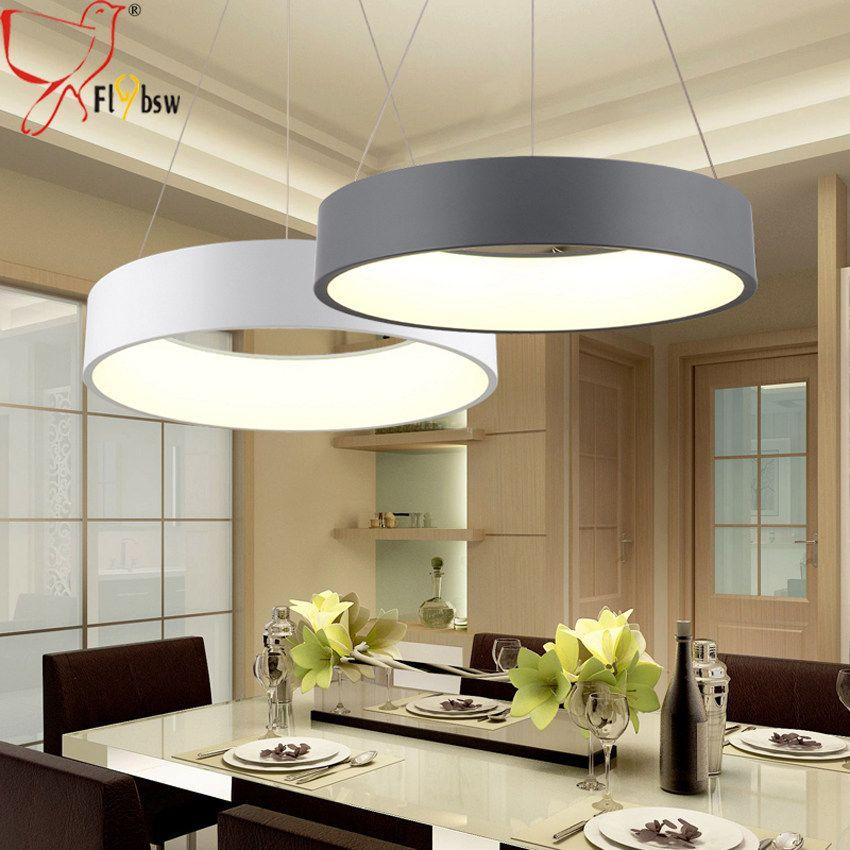Moderne Runde Led Anhanger Beleuchtung Fur Esszimmer Wohnzimmer