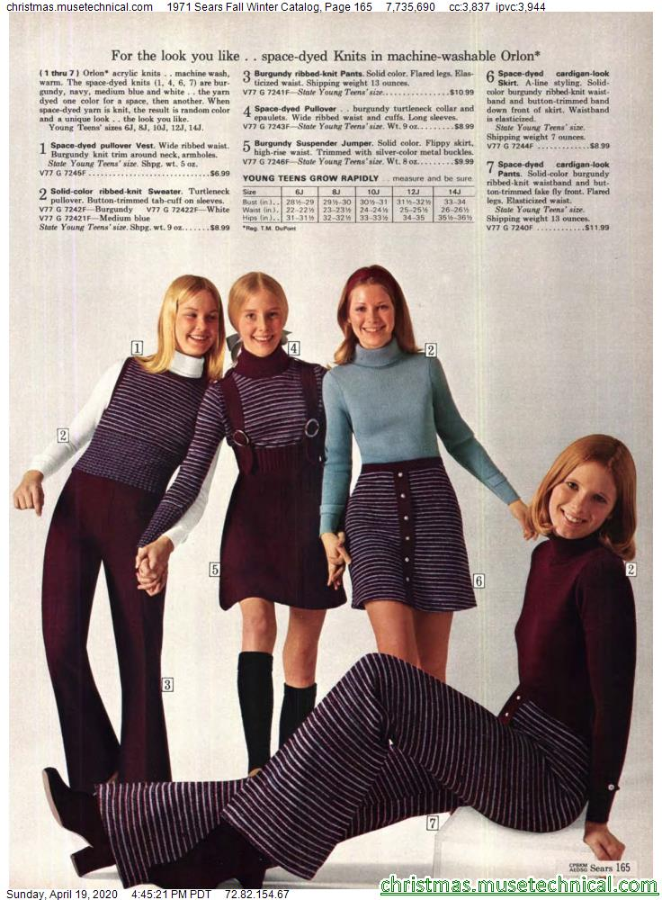 1971 Sears Fall Winter Catalog, Page 165 - Christm