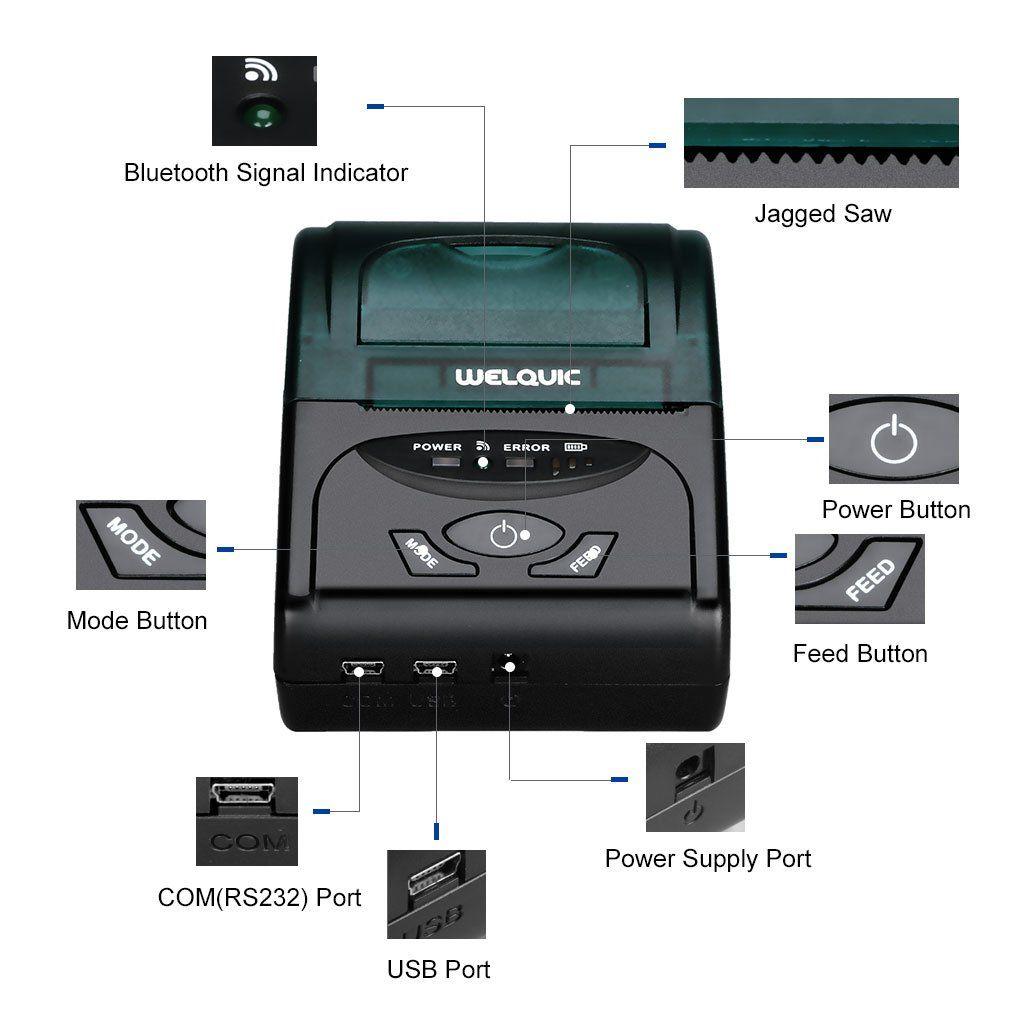 WELQUIC Portable Mini Wireless 58mm Bluetooth High Speed