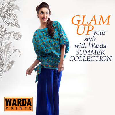 Warda Designer Summer Dresses Eid Collection 2014 7 Warda Designer Summer Dresses Eid Collection 2014