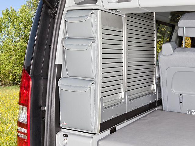Utility Pour Le Placard Arriere Pivotant Du Viano Marco Polo Astuces Rangement Camping Car Astuces Rangement Camping Mercedes Benz