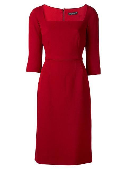 39c7fcb7 Dolce & Gabbana Crepe Square Neck Dress - Capitol - Farfetch.com ...