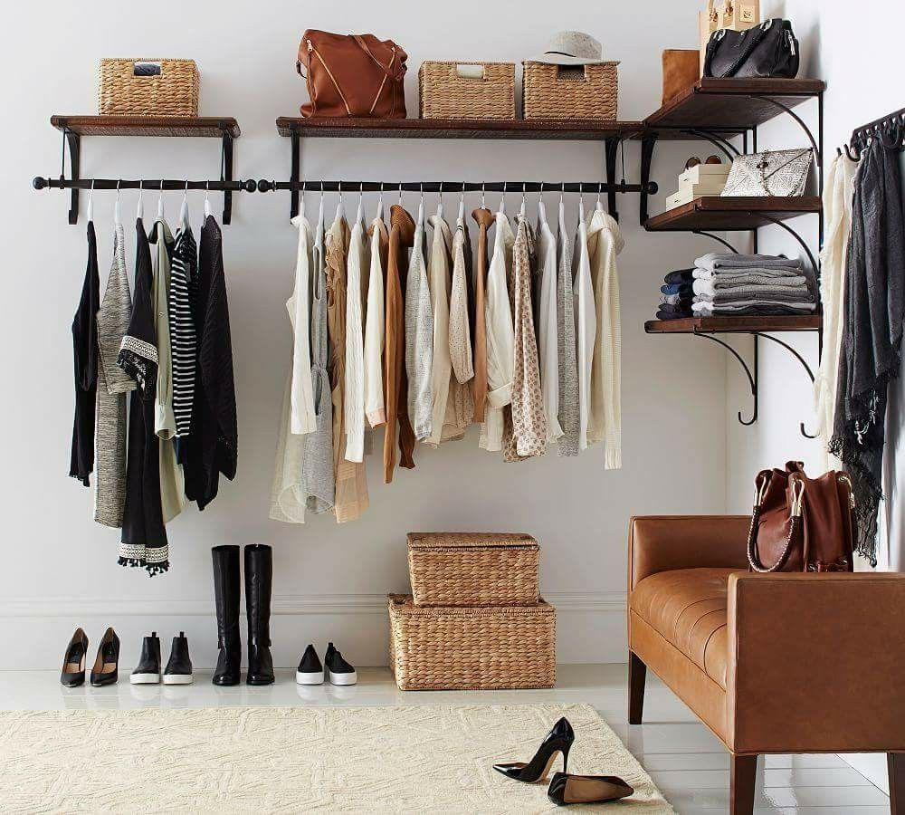 Pin By Socorro Mata Taylor On Home All The Rooms I Want No Closet Solutions Clothes Storage Without A Closet Open Closet