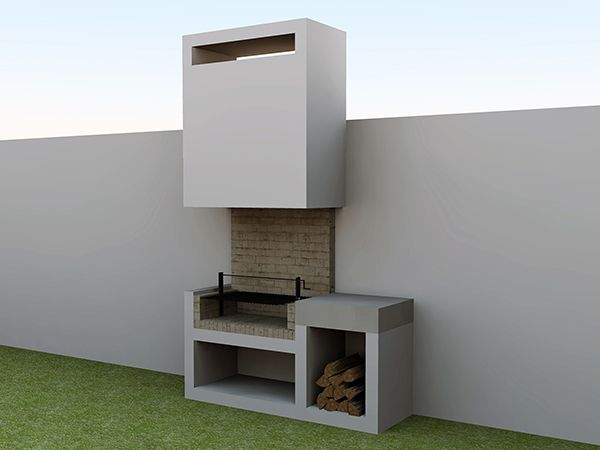 Asadores lineales dubl n etxerako deko pinterest for Estilos de asadores exteriores