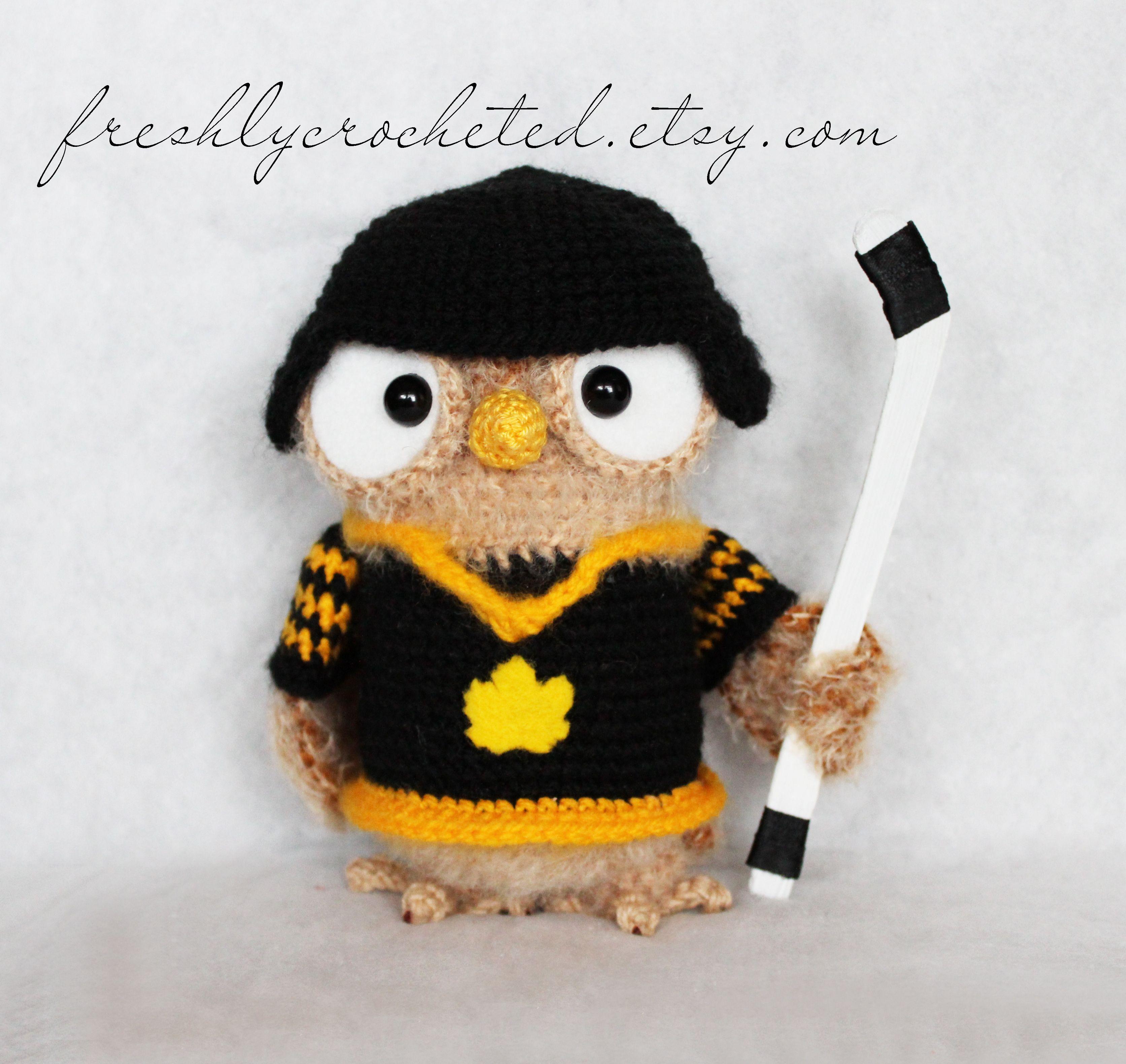 ice hockey owl | owls | Pinterest | Eule, Häkeln und Muster