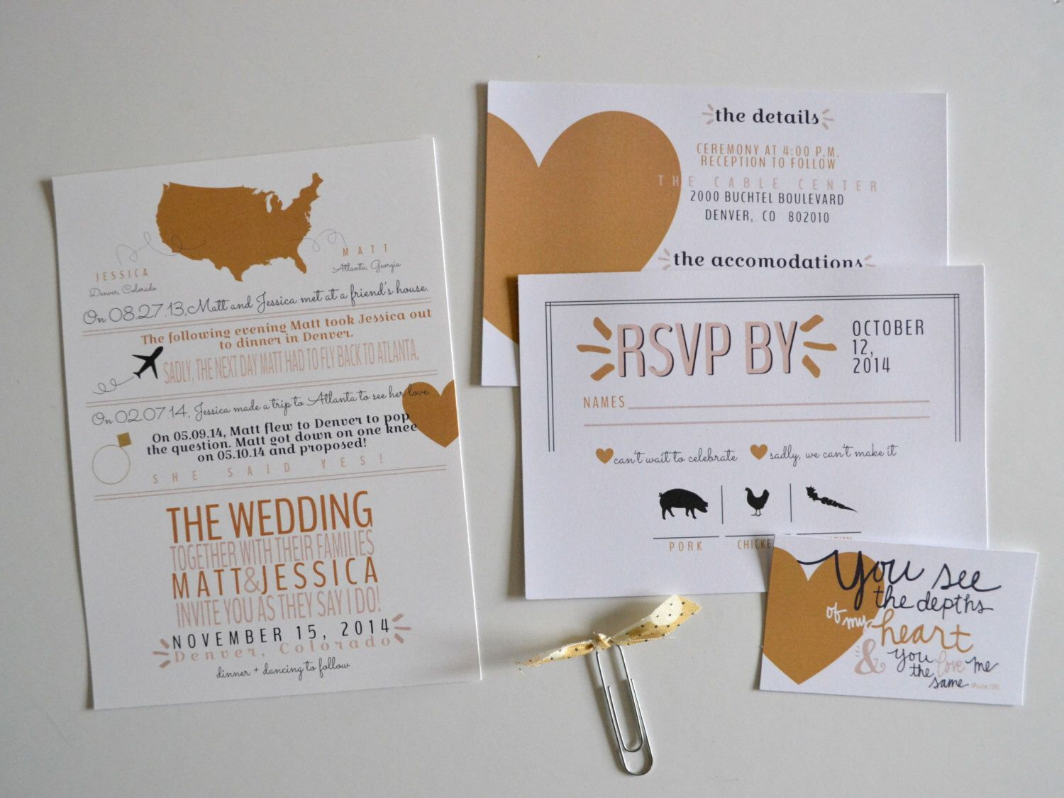 Design Files: Love Story Wedding Invites - Wedding Invites - Love Story - Fall Wedding Invites - Winter Weddings by givewithjoy on Etsy https://www.etsy.com/listing/199972619/design-files-love-story-wedding-invites