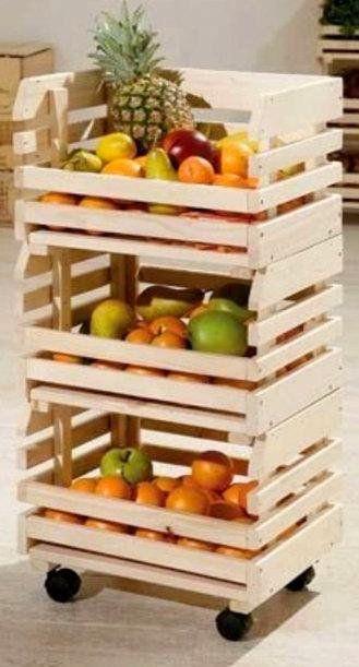 10 ideas para decorar con cajas de frutas cajas de fruta fruta y cajas - Decorar cajas de madera de frutas ...
