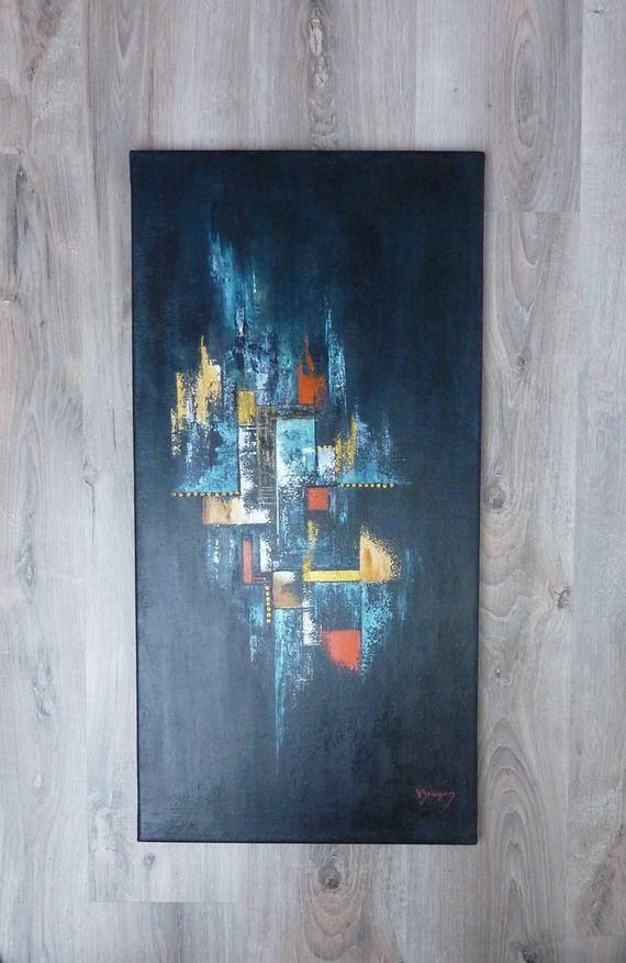 Africa Toile Acrylique Abstraite Contemporaine Au Couteau