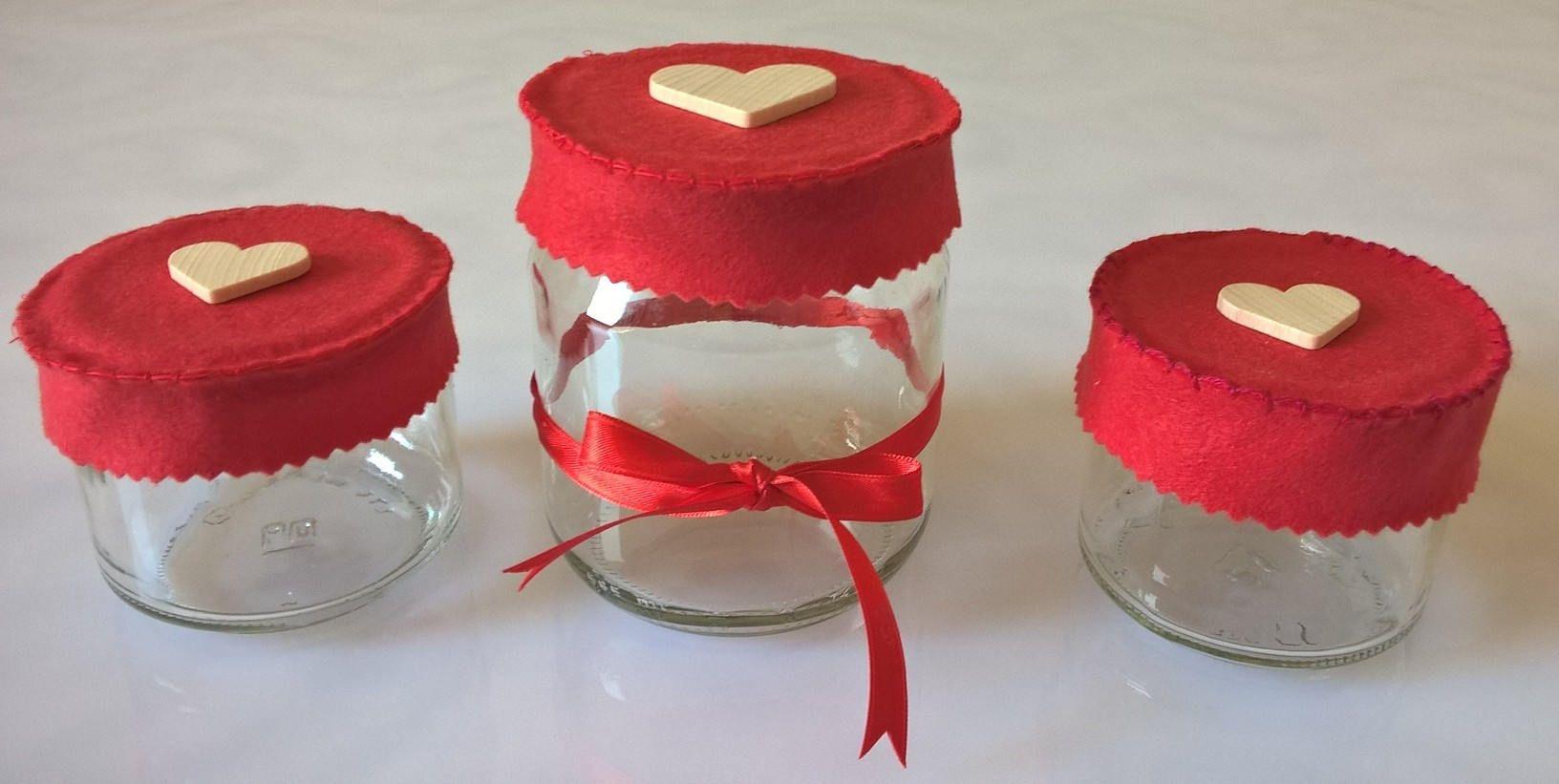 Vasetti barattoli per spezie decorati in vetro da cucina di Manoico ...