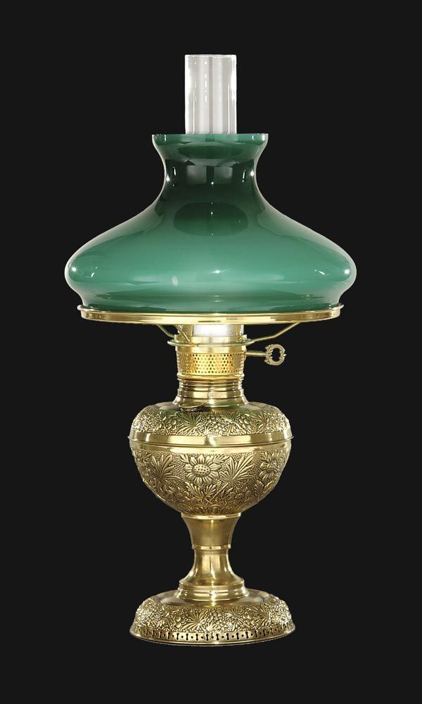 Early Style Embossed Br Lamp Antique Supply