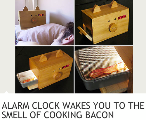 Bacon Alarm Clock.