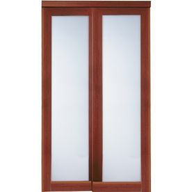 Reliabilt 1 Lite Frosted Glass Sliding Closet Interior Door Common 72 In X 80 In Actual 72 In X Closet Door Makeover Sliding Closet Doors Door Hardware Diy