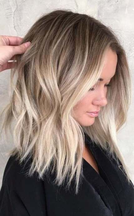 25 ideas hair color ombre blonde balayage long bob haircuts