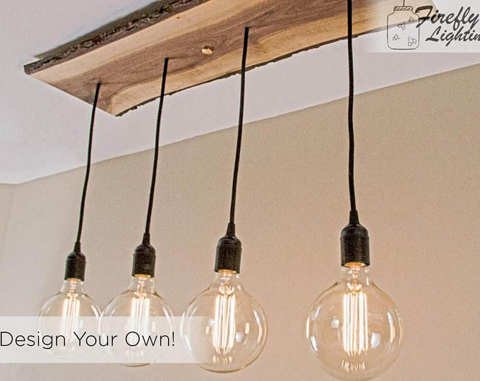 4 Pendant Straight One Of A Kind Wooden Hanging Edison Bulb Chandelier Light Fixtures Bedroom Ceiling Wood Ceiling Lights Chandelier Lighting Fixtures