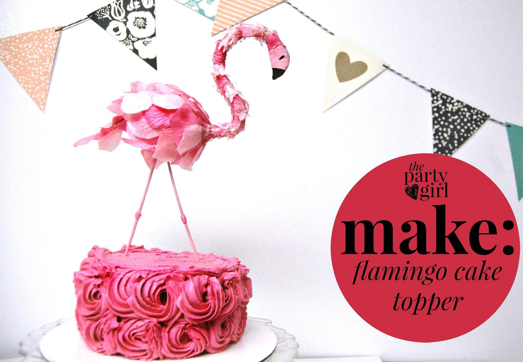 flamingo cake topper | First Birthday | Pinterest | Flamingo cake ...