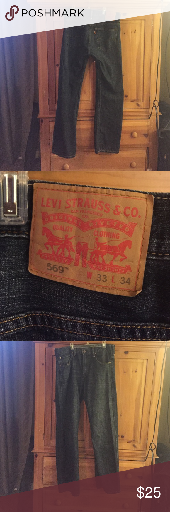 Men's Levi's Never worn.  Men's Levi's.  Brand new without tags. 33 waist and 34 length Levi's Jeans