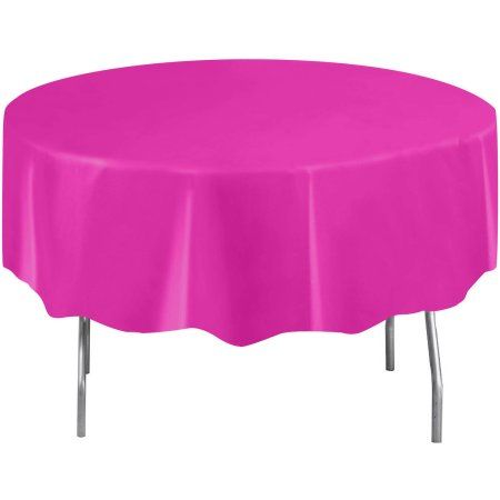 Party Occasions Party Table Cloth Pink Tablecloth Plastic Table Covers