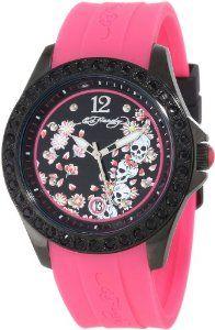 Ed Hardy Women's TE-PK Techno Pink Watch