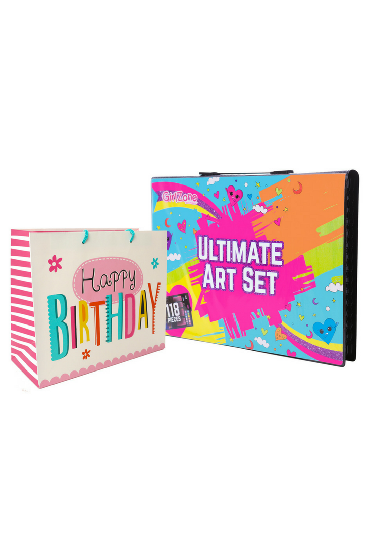 Girlzone Ultimate Art Set For Kids Birthday Present Gifts For Girls
