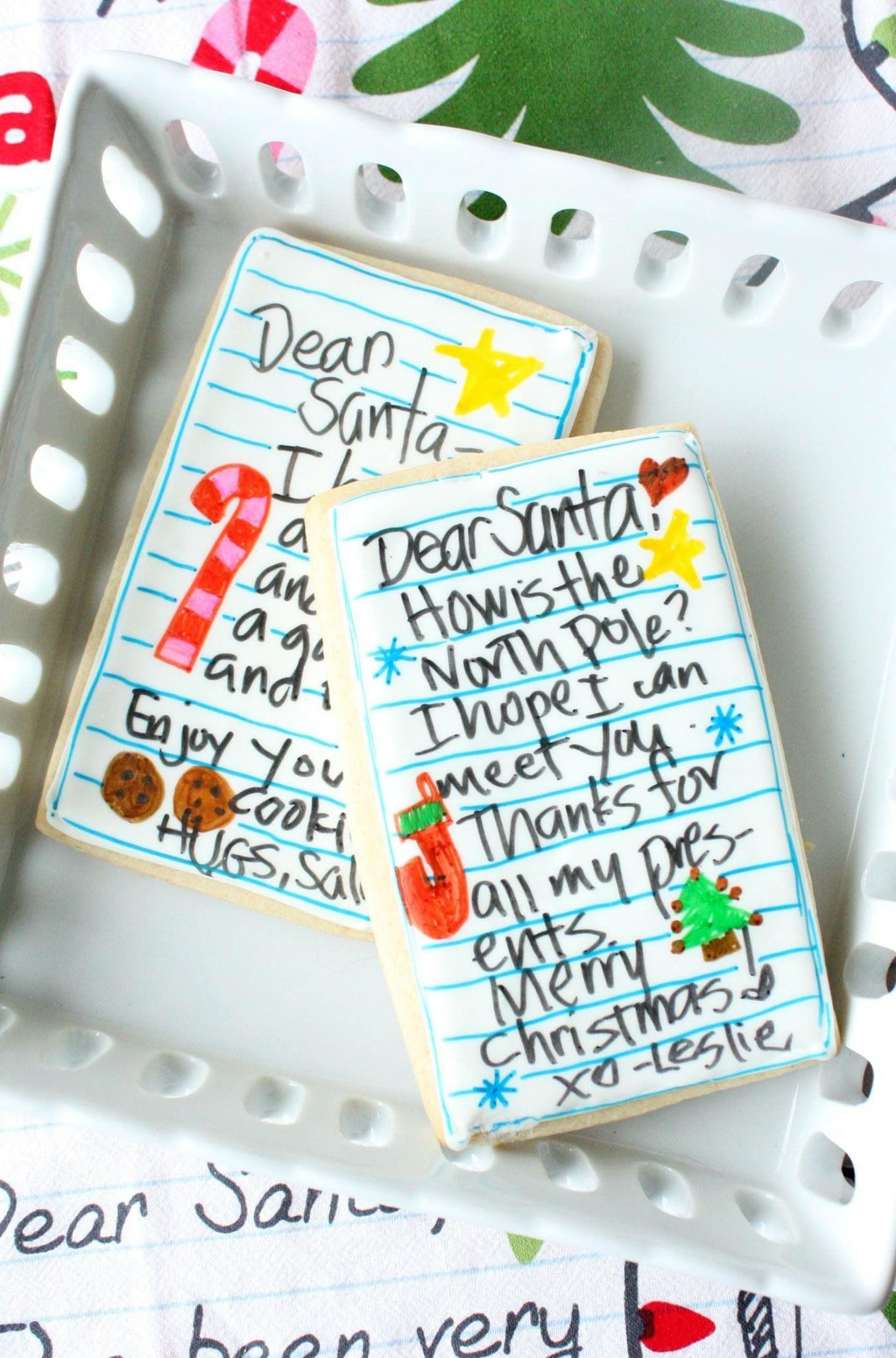 Dear Santa Cookies Santa cookies, Christmas cookies