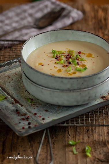 Rezept  Selleriesuppe mit Trüffelöl  Mundgefühl  Gesund und schnell kochen 2019 Celery soup with truffle oil  Mundgefuehls Food photography The recipe is u...