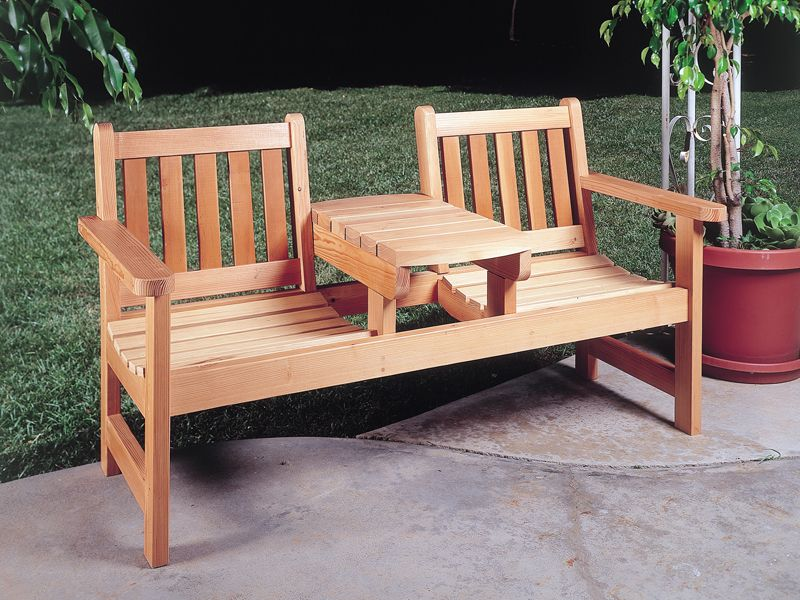 Of our most popular DIY Outdoor Furniture Plans Garden and Patio Plans  Woodworking Project Templates to Build Adirondack Chair Woodworking. Twin Seater from houseplansandmore com   Think Outside   Pinterest