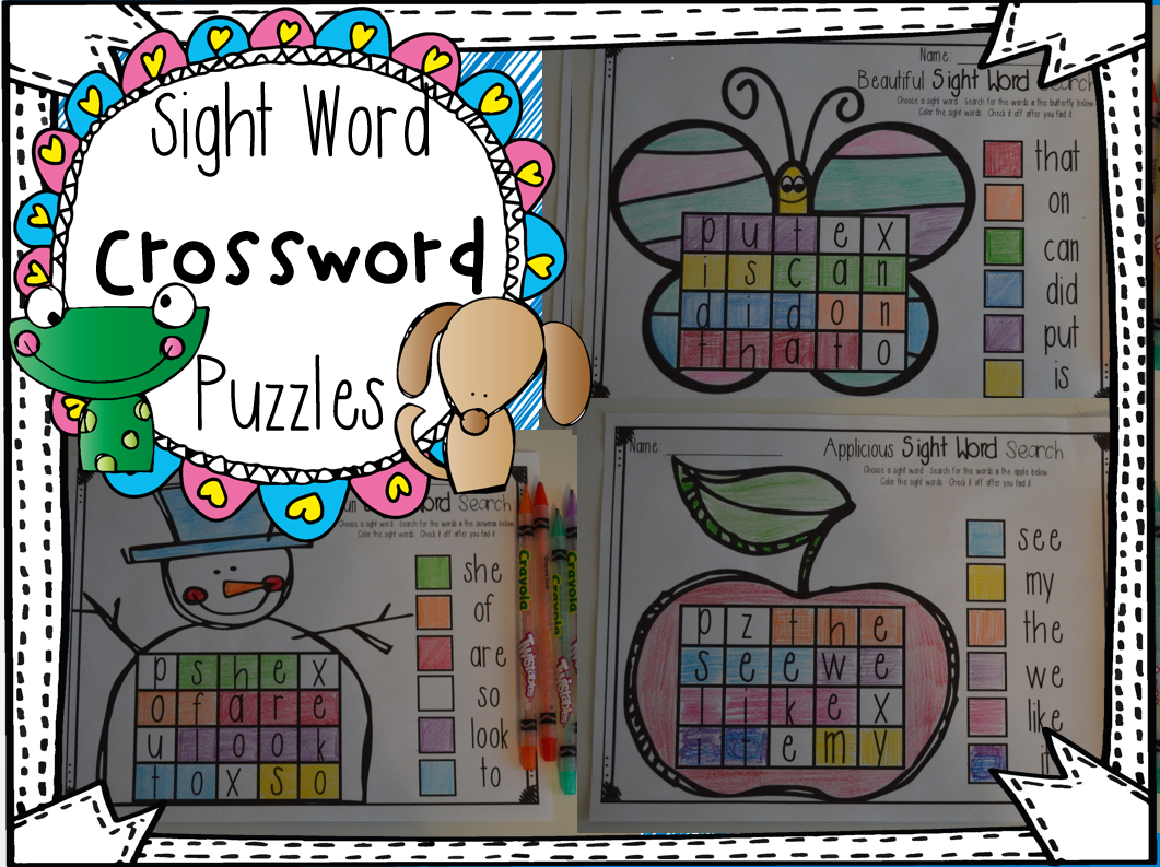 Sight Word Search Puzzles Pre Primer Set 1