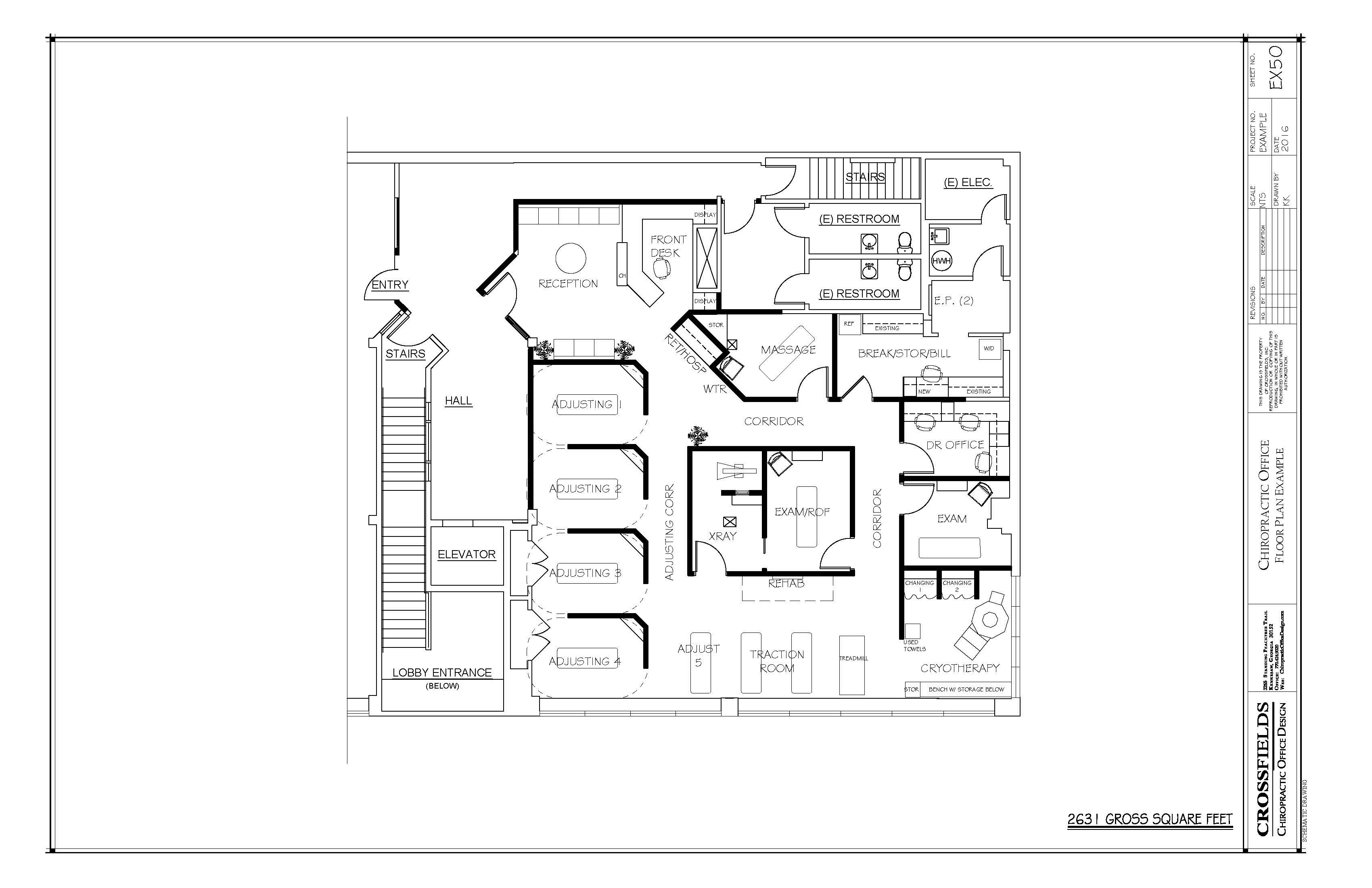 Chiropractic Office Floor Plans