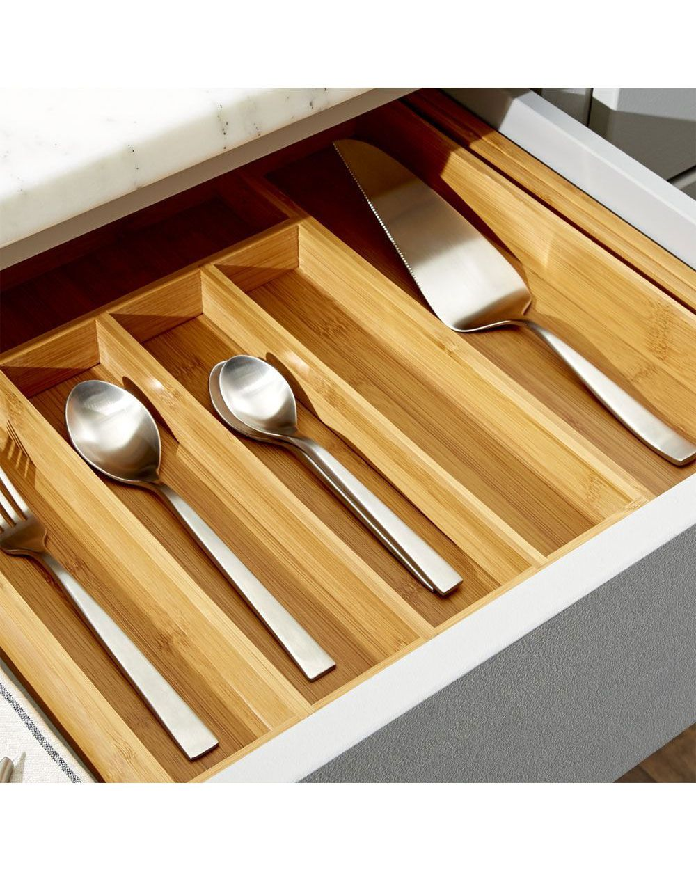 11 Best Drawer Organizers For Every Room In Your House Bamboo Flatware Diy Kitchen New Kitchen